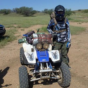 camping trip. nothing but what was on my back and strapped to the stock grab bar. i bought a utility rack for it now so i can do this a little bit eas