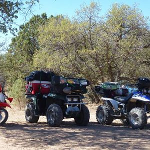 What we love to do. ride till dawn, set up camp, do our thing then ride some more the next day. No base camp. just whats on our quads.