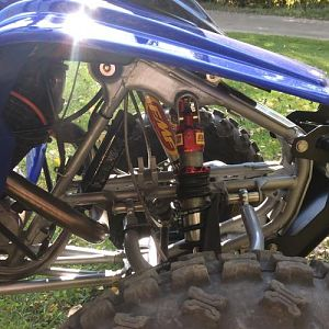 Jag custom 6row frame mounted oil cooler,this thing was a perfect match